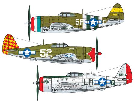 Esquema de colores de aviones. Ilustración
