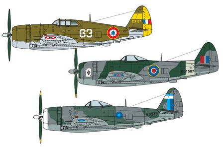 Combinazione di colori dell'aeromobile. Illustrazione