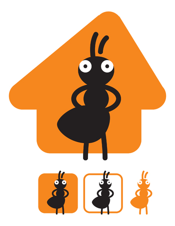 Ant the builder. Image for logo or illustrations