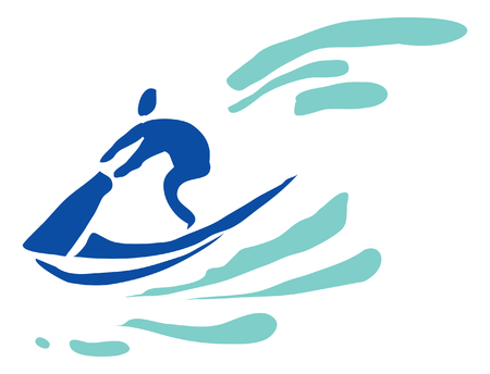 Recreation, sports, activity. The man on the aquabike. Pictogram.
