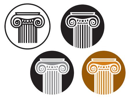 antique column. Image for logo or illustrations
