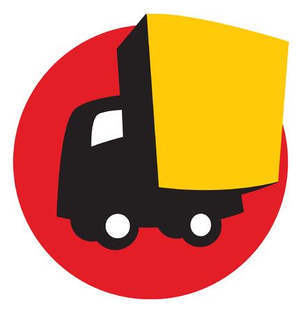 City Van. Vector image for logo or illustration Illustration