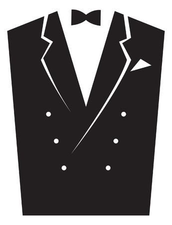 Elegant men's suits. Vector image for logo and illustrations. Vectores