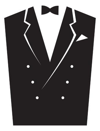 Elegant men's suits. Vector image for logo and illustrations. Illustration