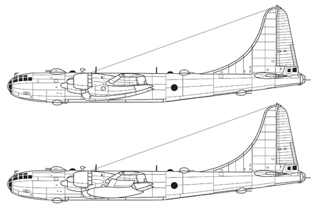Combat aircraft. Outline drawing