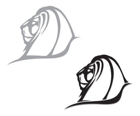 gothic lion head. vector image for logo or illustration Ilustrace