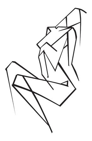 female figure. vector illustration Ilustrace