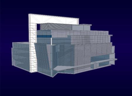modern office building with a glass facade