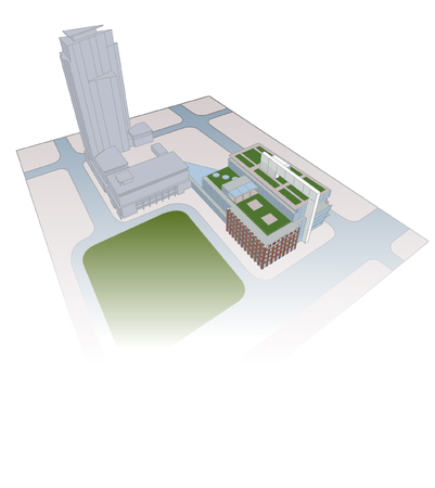 complex of office buildings