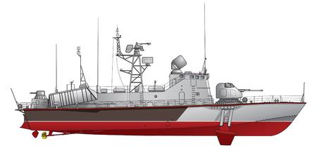 Le bateau lance-missiles. Vecteurs