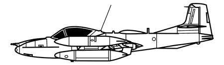 Aircraft profiles. Technical illustration