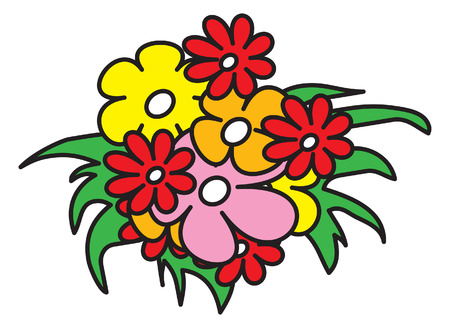 bouquet of flowers. vector image for illustration