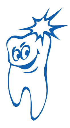 healthy tooth. vector image for logo or illustration Ilustrace
