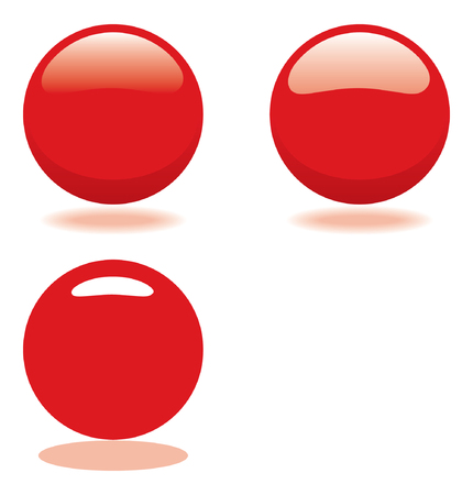 red ball. vector template for buttons or icons