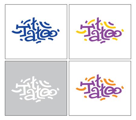 stylization of the word TATTOO. Logo template Ilustrace