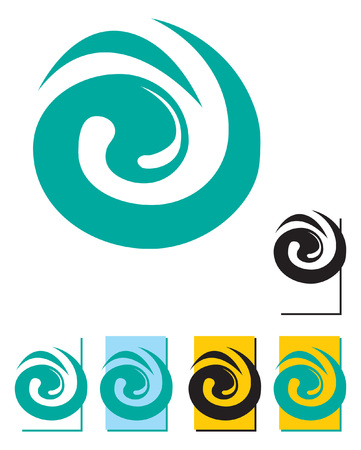 the blue swirl. Logo template