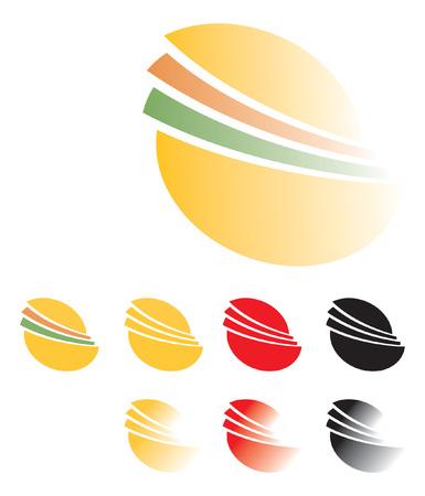 sandwich, hamburger. Logo template, vector graphic element Ilustrace