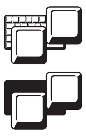 computer keyboard keys. graphic composition. Logo template
