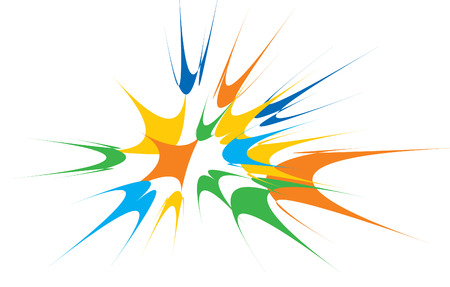 color blowing up. vector graphic element