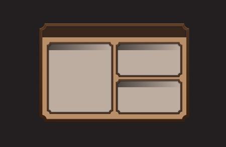 frame composition. vector template for illustration or website