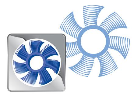 tunnel fan. vector image for logo or illustration