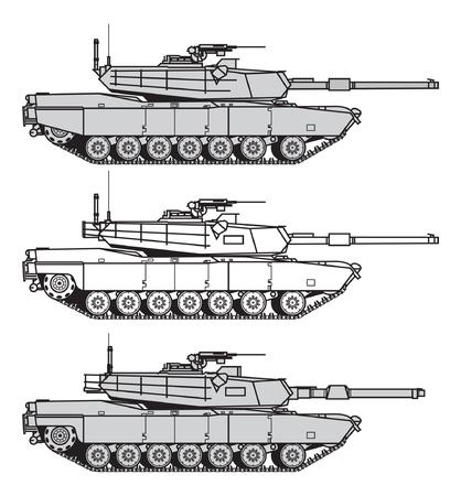 Char de combat principal américain. illustration vectorielle Vecteurs