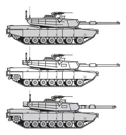US main battle tank. vector illustration Illustration
