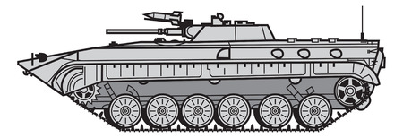 Soviet Infantry fighting vehicle. vector illustration