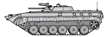 Vehículo de combate de infantería soviético. ilustración vectorial