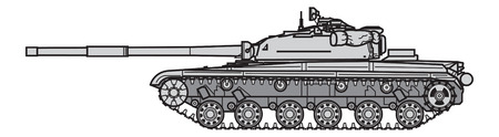 Soviet main battle tank. vector illustration