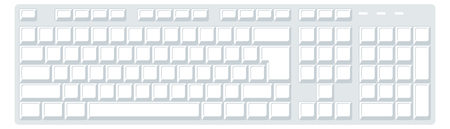 computer keyboard. vector image for illustration