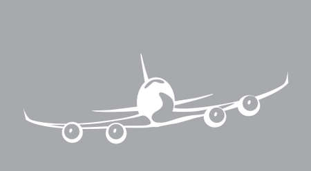 jumbo jet. airliner in the sky. vector image for illustration