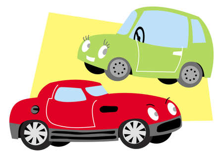 two nice cars. vector image for illustration