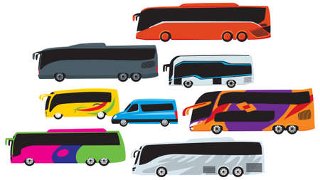 various cars on the street. vector image for illustration Ilustrace