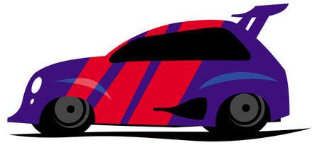 blue sportcar. vector image for illustration