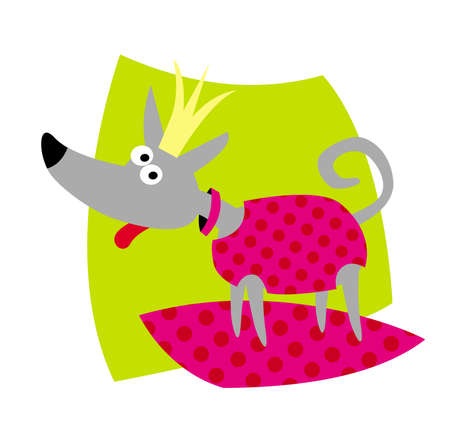 little dog as a real princess. vector drawing for illustrations 写真素材 - 150639168