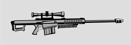 antimaterial sniper rifle. vector image for illustration
