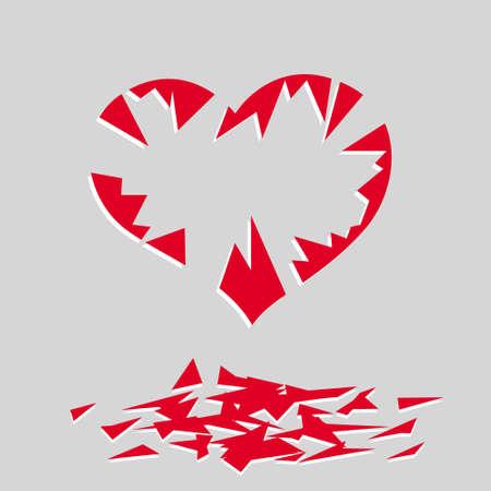 broken heart. vector image for illustration