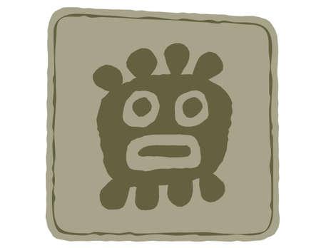 Indian art. Totem symbols. Illustration
