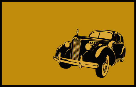 Retro Vintage Car. Stylized image of a classic vintage car of the 40-50s. 矢量图像