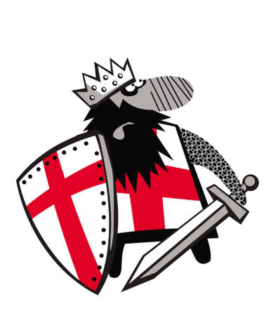 Richard the Lionheart is going on a crusade. Vector image for illustrations.