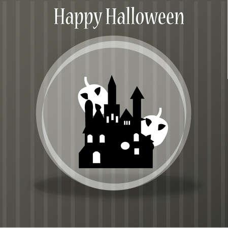 Halloween background with pumpkin, element for design, vector illustration  Illustration