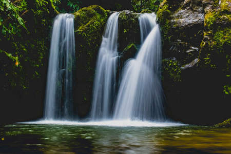 Waterfalls in Azores always provide a very high contrast against the lush greens of the island. They can be found in many places as Azores has many hills and steep terrain created by volcanic activity
