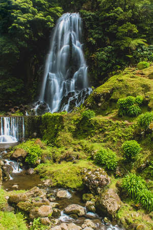 Waterfalls in Azores always provide a very high contrast against the lush green of the island. They can be found in many places as Azores has many hills and steep terrain created by volcanic activity,