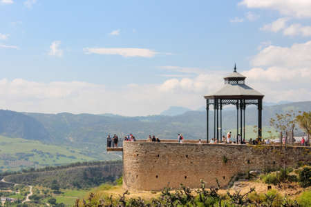 Bandstand in beautiful Ronda city, with an amazing viewpoint over the surrounding landscape. Ronda, Andalusia Spain