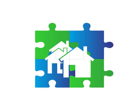 puzzle house backround Stock Vector - 16784545