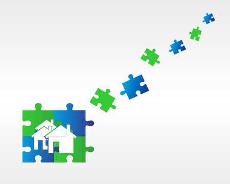 puzzle backround Stock Vector - 16784547
