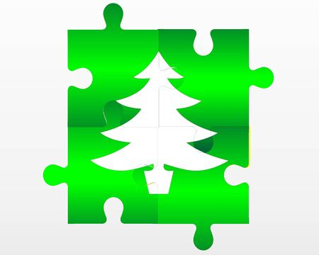 christmas puzzle backround Vector