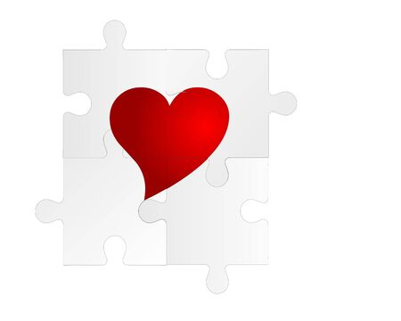 heart puzzle backround Vector