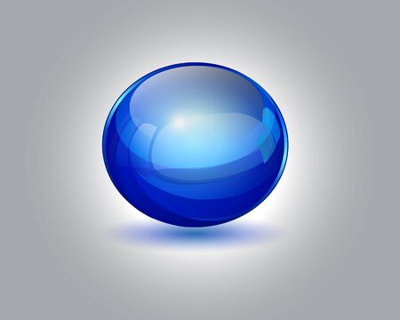 blue glossy ball vector